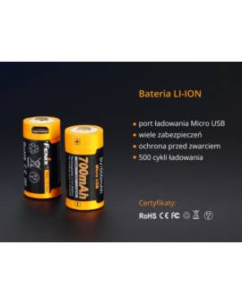 Akumulator Fenix USB ARB-L16U RCR123 700mA 16340